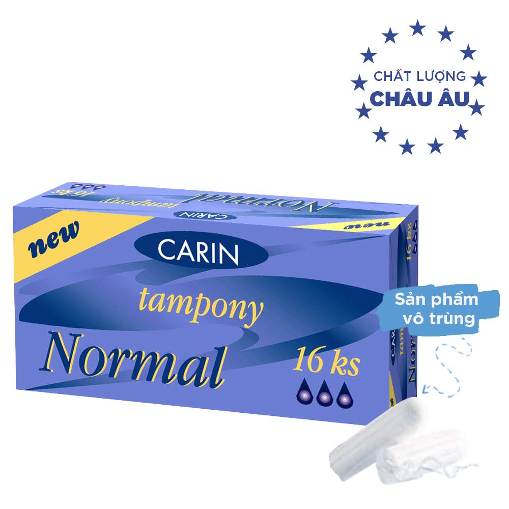 Combo Băng vệ sinh đặt trong Carin Tampon Normal + 1 BVS hàng ngày Carin Slip Anatomic Super Comfort 20