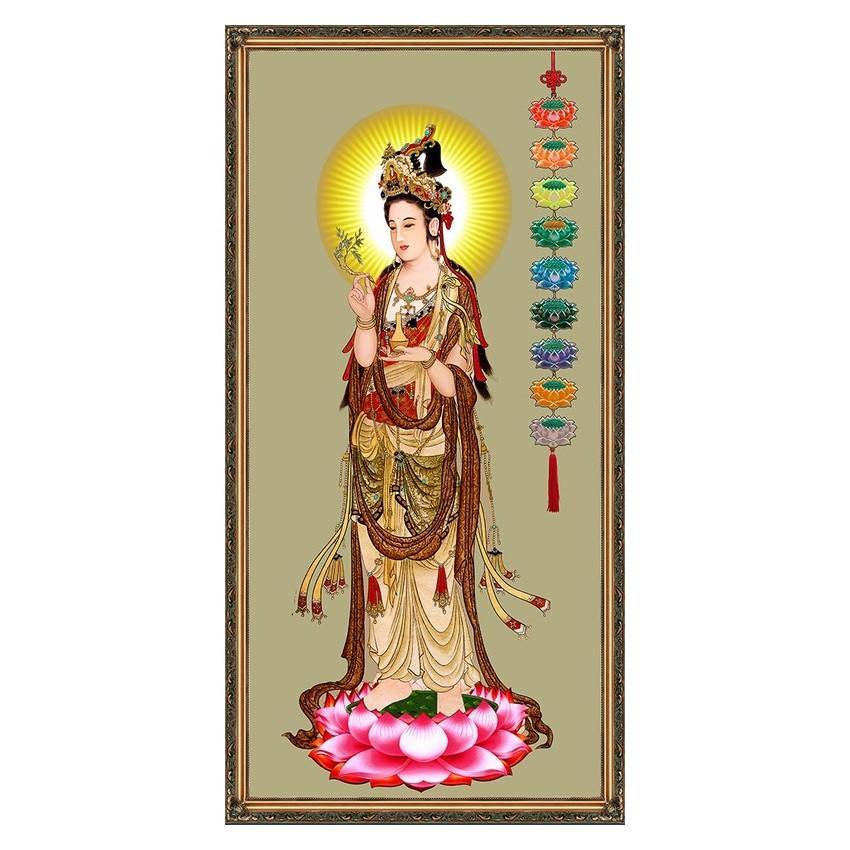 Tranh Phật Giáo Quan Âm Bồ Tát 2378 (30 x 60 cm)