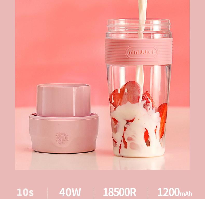 Máy xay sinh tố cầm tay mini Juice 300ml đa năng -giao màu ngẫu nhiên