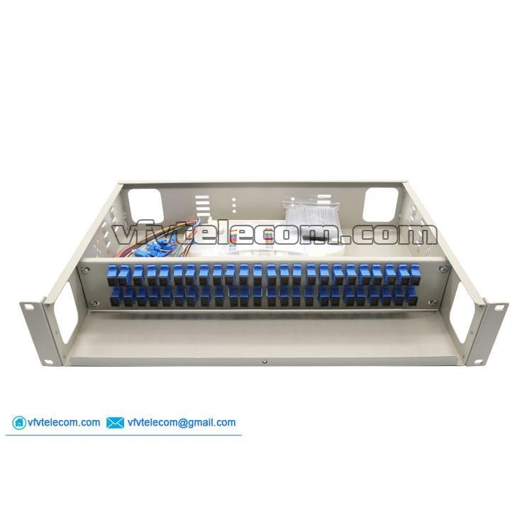 Hộp phối quang ODF 48FO lắp rack đầy đủ phụ kiện