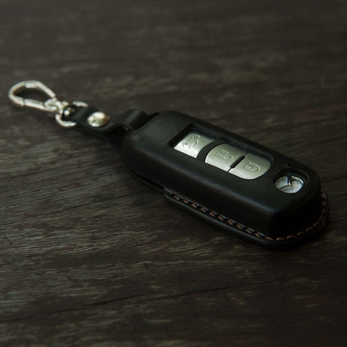Bao da chìa khóa Mazda 3, CX5 - Da bò nguyên tấm - Sản phẩm thủ công