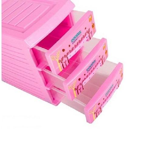 Tủ nhựa mini 3 tầng  để đồ dùng đô trang điểm tiện lợi Shop giao mầu ngẫu nhiên