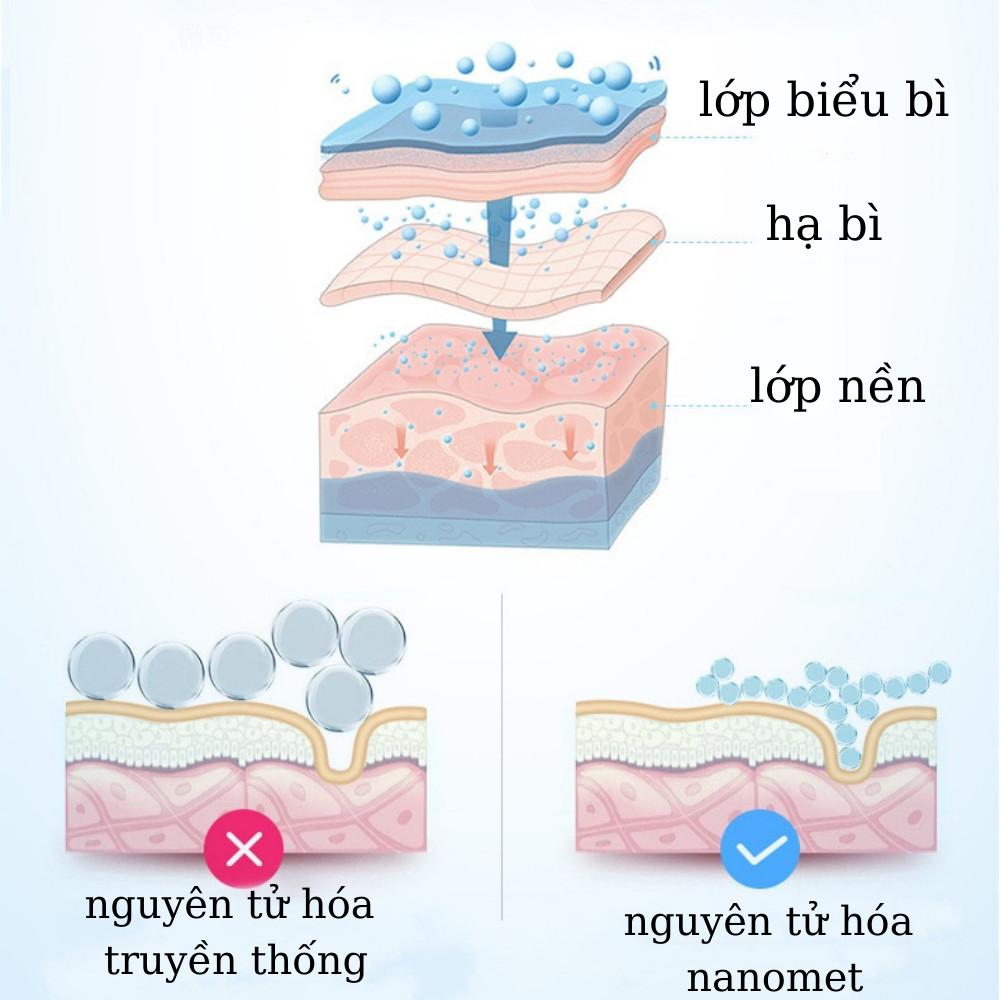 Máy phun sương xông da mặt mini nano tích điện dung tích 30ml TiLoKi W718B - Hàng Chính Hãng