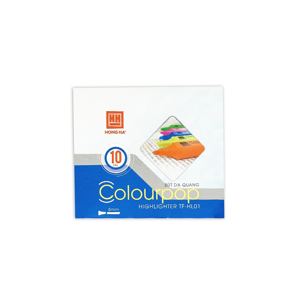 Bút dạ quang TF HL01 - 6599C (15 cái) Màu cam
