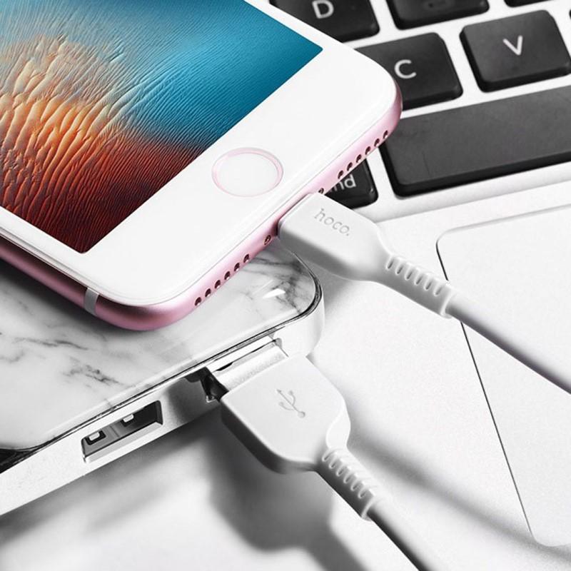 Cáp USB to Lightning X20 chính hãng Hoco 1,2m (màu ngẫu nhiên)