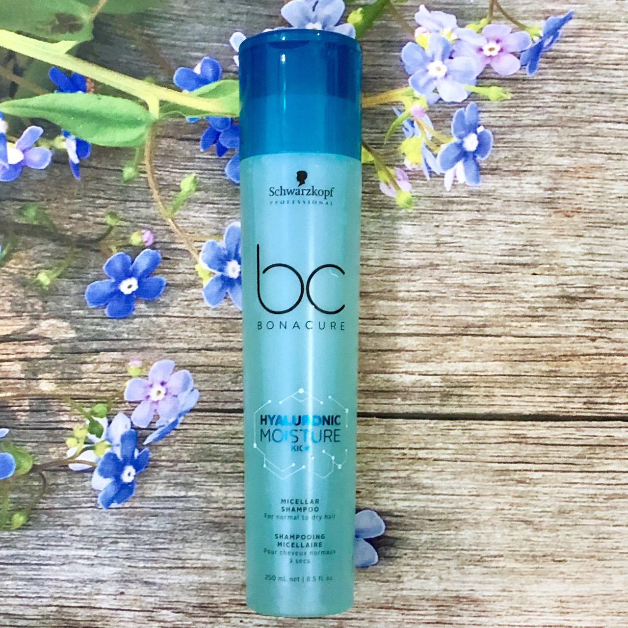 Dầu gội Schwarzkopf BC Bonacure Hualuron Moisture Kick Micellar shampoo giữ ẩm tóc khô giòn và xoăn Đức 250ml