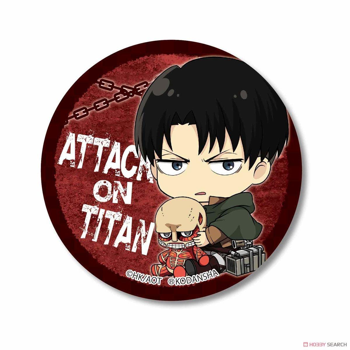 Combo 6 huy hiệu cài áo ATTACK ON TITAN - ĐẠI CHIẾN TITAN anime chibi ver ÔM ĐỒ
