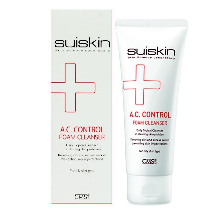 Sữa rửa mặt hỗ trợ trị mụn Suiskin A.C.Control Foam Cleanser 150ml