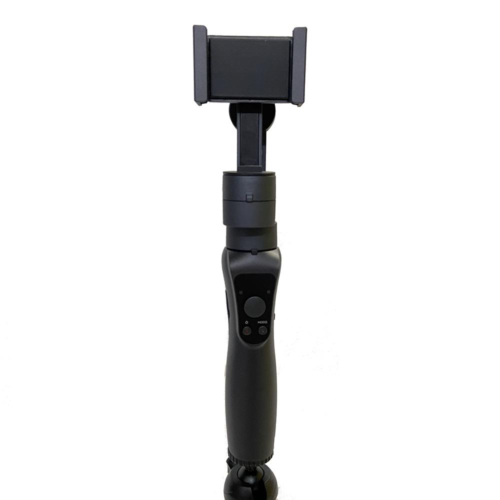 Gậy chống rung cho điện thoại 3 trục ( 3 axis) - Tặng kèm chân đỡ bạch tuốc lớn Selfiecom - Hàng chính hãng