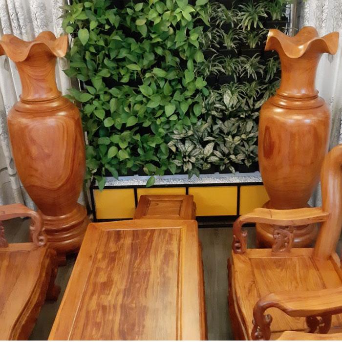 Lục bình trang trí, gỗ Hương 1m7 đường kính 45 ( một cặp 2 bình )