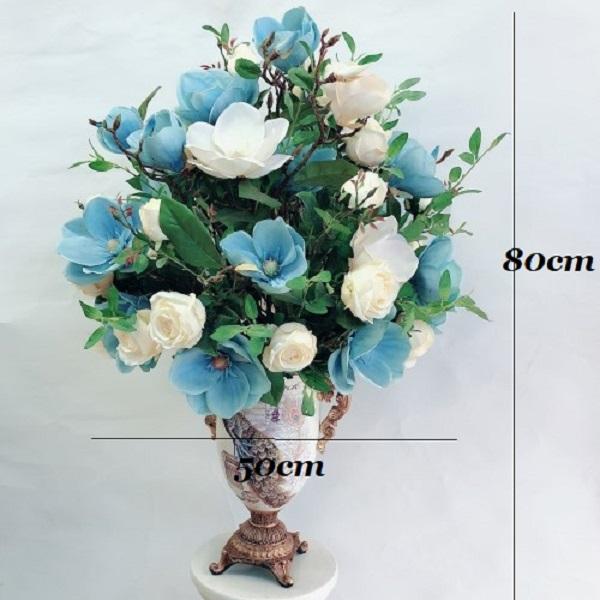 Bình hoa nghệ thuật mộc lan su cao cấp phong cách trang nhã sang trọng- trang trí không gian nhà ở, nhà hàng, sự kiện.