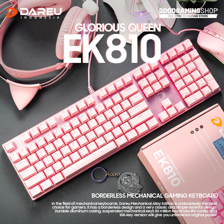 Bàn Phím Cơ Darau EK810 Queen Pink (Blue Switch) - Hàng Chính Hãng