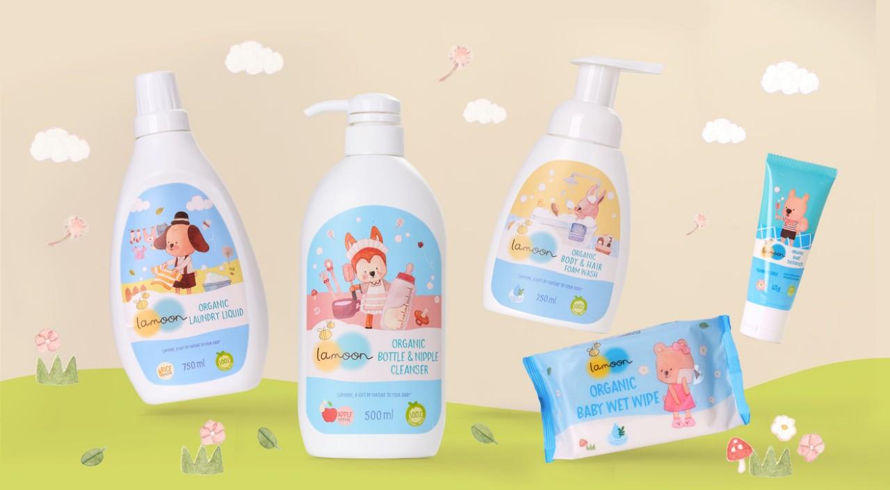 Nước giặt quần áo Organic cho bé Lamoon - Túi 700ml