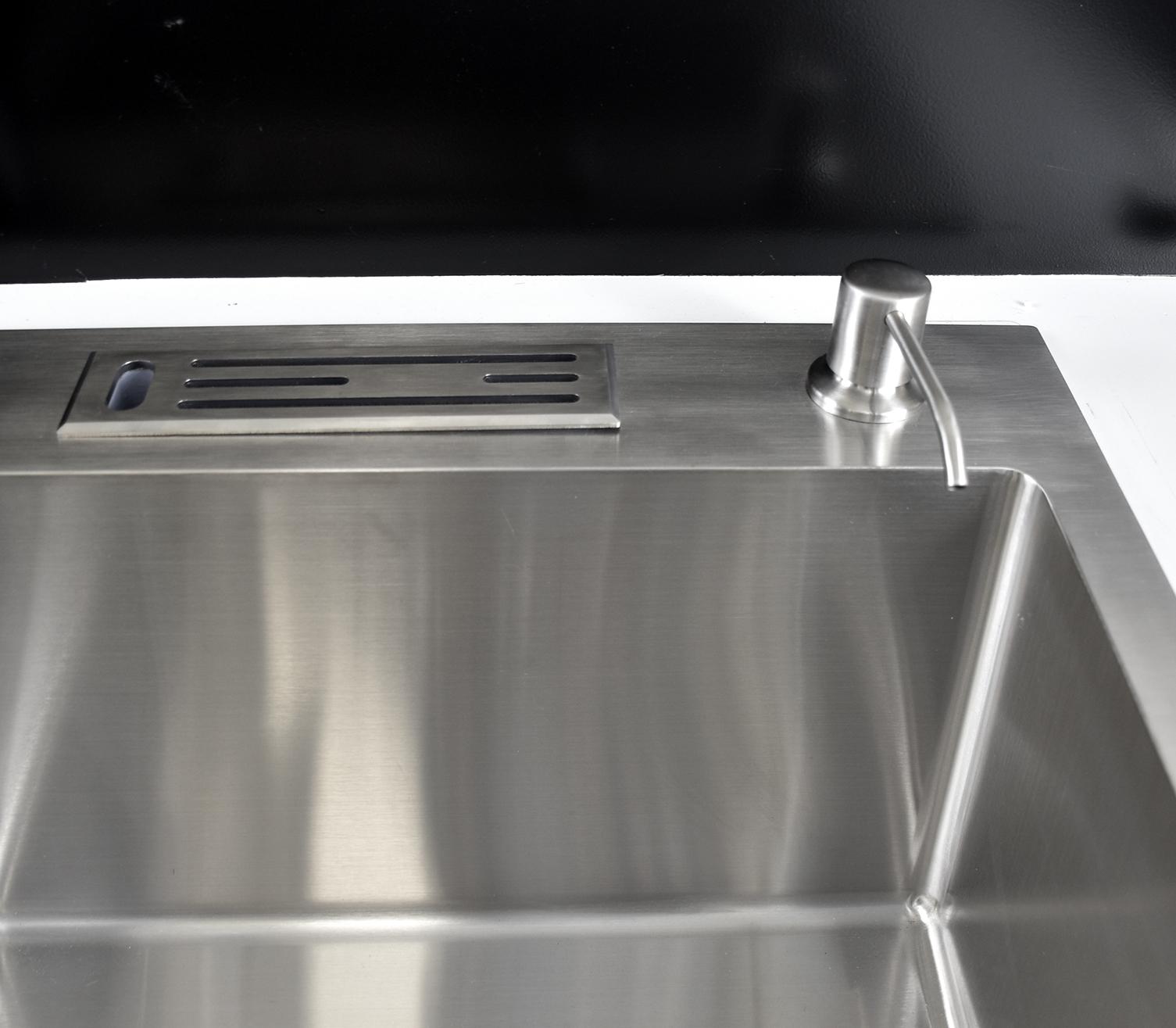 Chậu rửa bát 2 ngăn tích hợp khay đựng đồ Inox 304 Hiwin KS-8148