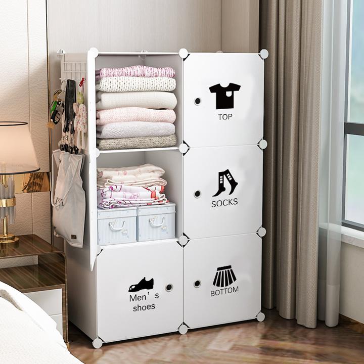 Tủ nhựa đựng quần áo nhiều ngăn XFA chất liệu nhựa siêu bền, khung thép chắc chắn, có họa tiết, hàng nội địa Trung quốc, lắp đặt dễ dàng