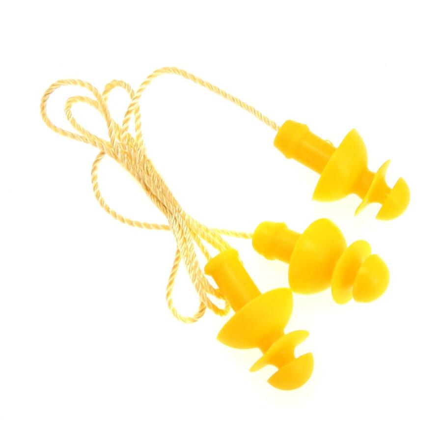 YINGFA YINGFA Swimming earplugs Silicone swimsuit Rope spiral earplugs Soft and comfortable professional swimming equipment Yellow