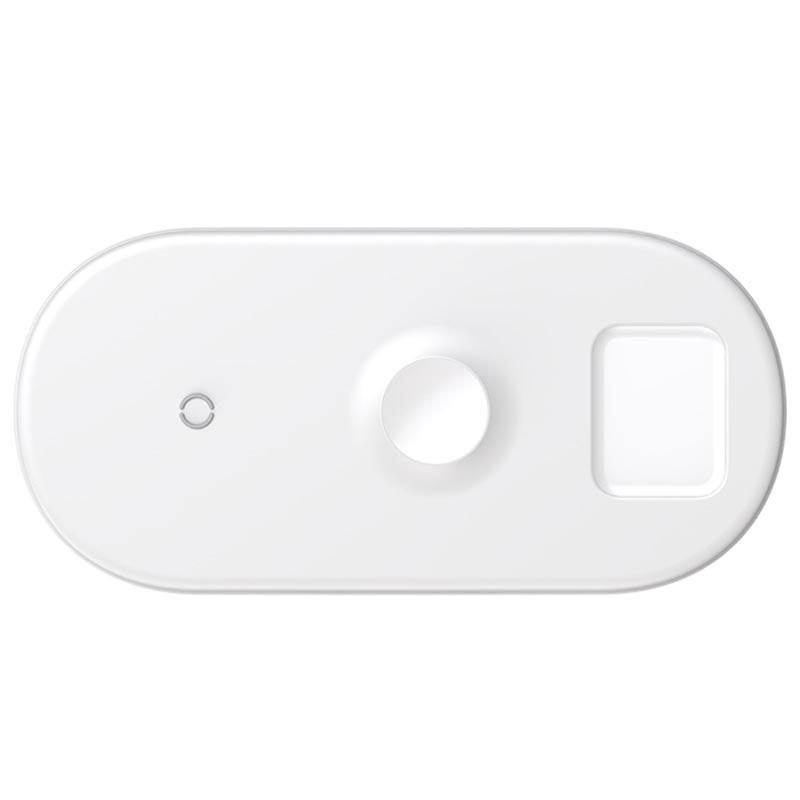 Đế sạc nhanh không dây 3 in 1 Baseus BS-IW04 18W ( điện thoại + Apple Watch + Airpods) - Hàng chính hãng