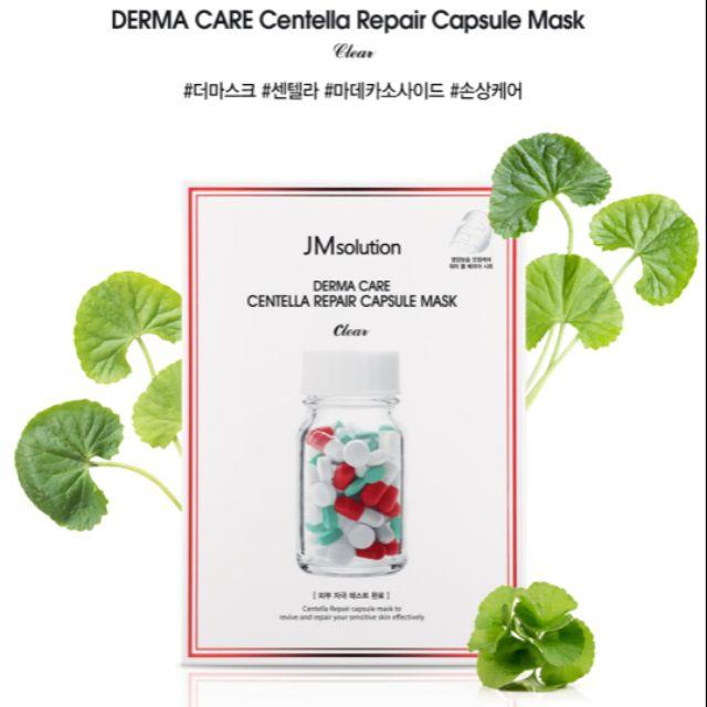 Combo 5 Mặt Nạ Làm Dịu Phục Hồi Da Tổn Thương JM Solution Derma Care Centella Repair Capsule Mask Clear 30ml/miếng x 5