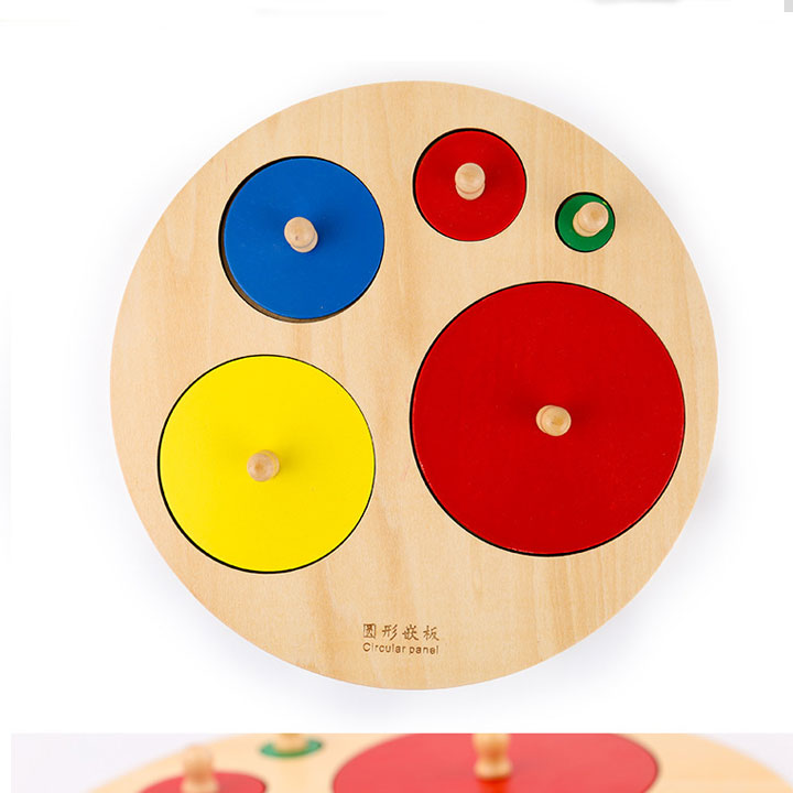 Bảng núm tròn có núm cầm giáo cụ Montessori
