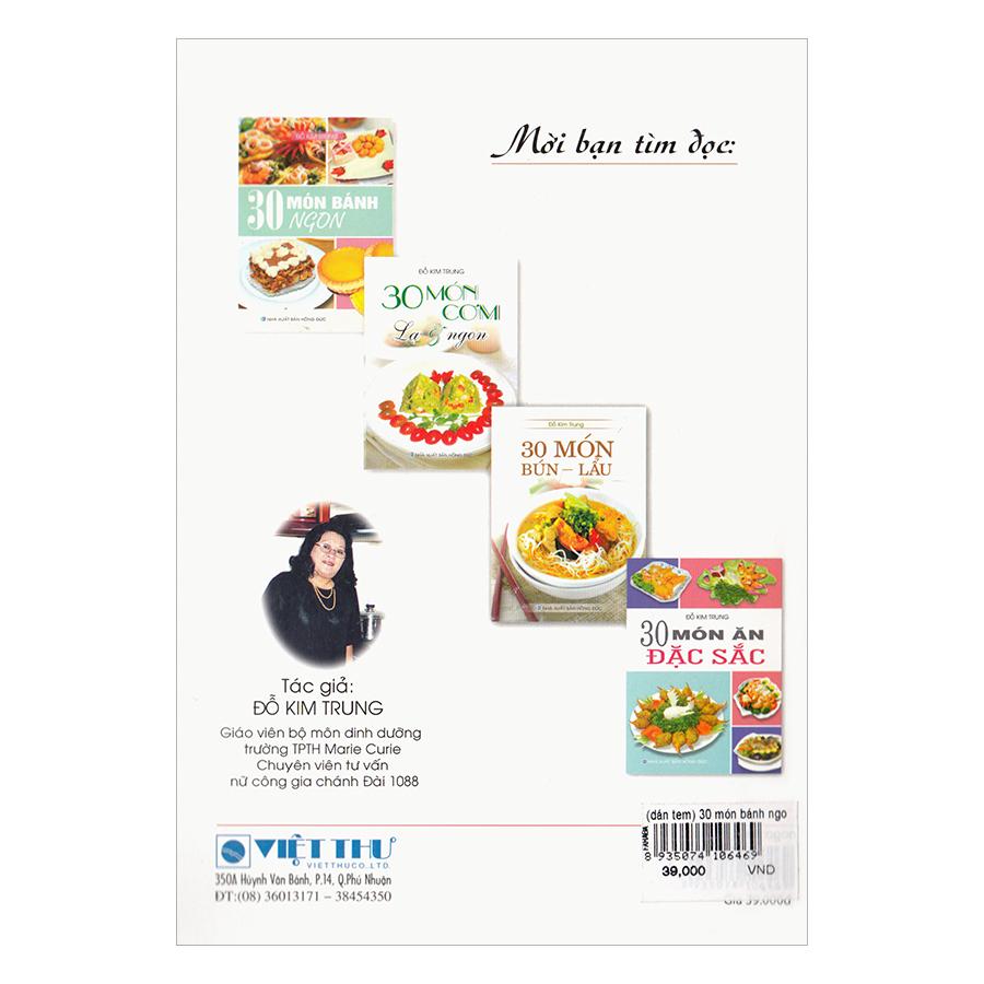 30 Món Bánh Ngon (Tái Bản)