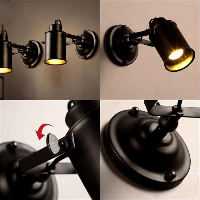 Đèn gắn tường trang trí chiếu rọi kiểu công nghiệp  V91 (Bao gồm bóng)