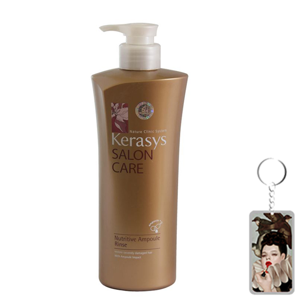 Dầu xả Kerasys Salon Care Nutritive - Dành cho tóc hư tổn Hàn Quốc 600ml + Móc khoá