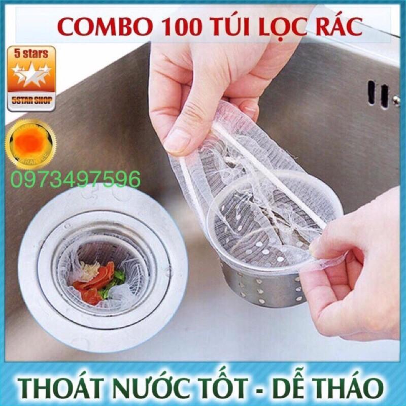 Combo 100 Túi Lọc Rác Thông Minh Cho Bồn Rửa Chén Bát