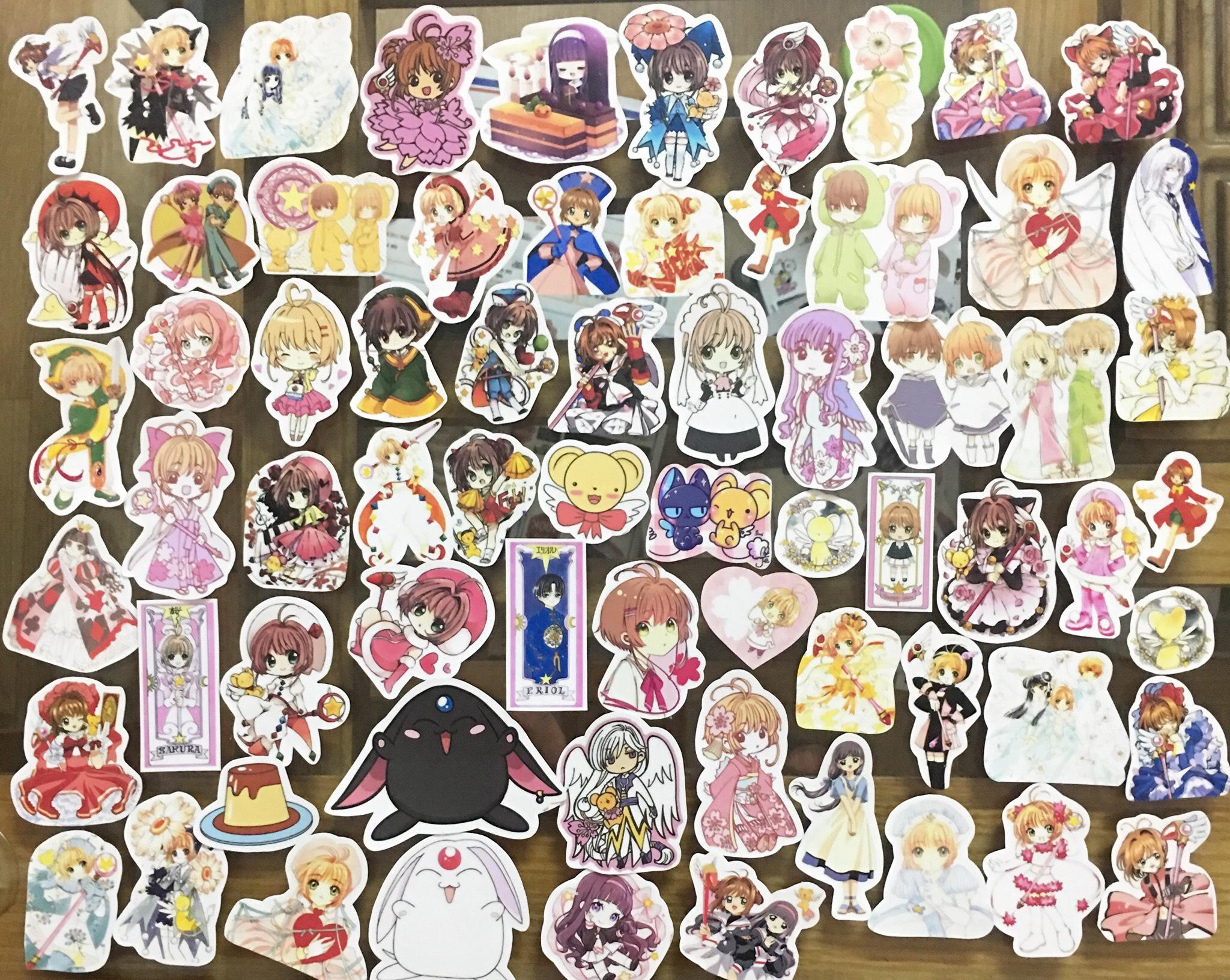 Ảnh sticker SAKURA 50 ảnh nhiều mẫu khác nhau