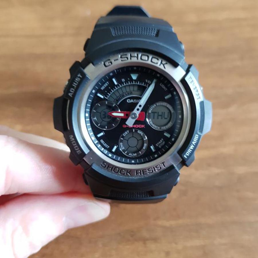 Đồng hồ nam dây nhựa Casio G-SHOCK AW-590-1ADR