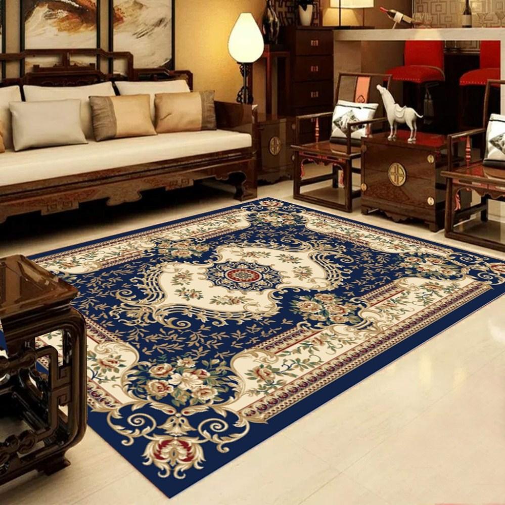 Thảm trải sàn 3D hoạ tiết cổ điển màu đỏ - tặng kèm thảm nhà tắm hình bàn chân