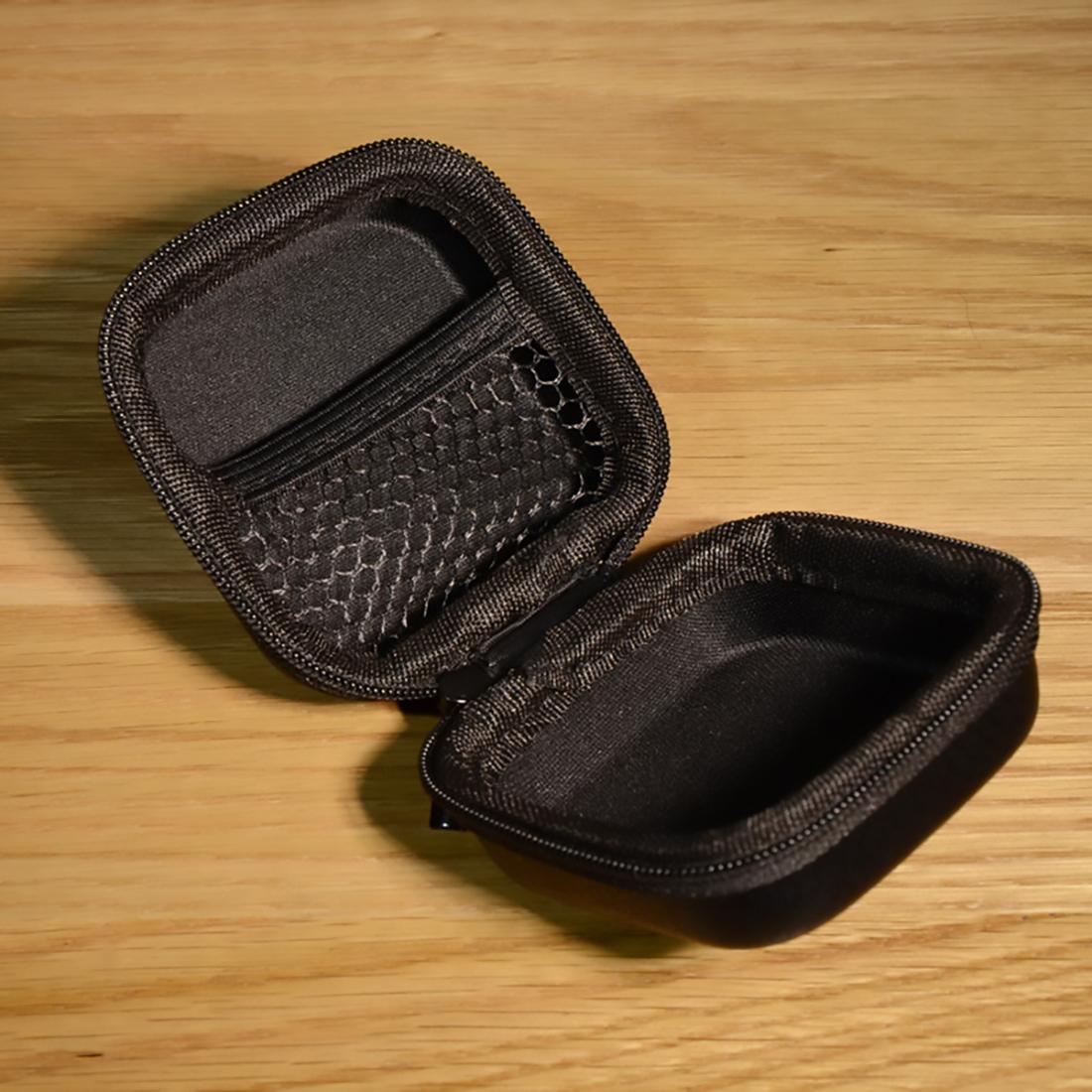Hộp túi phụ kiện công nghệ SmileBox loại vuông nhỏ gọn màu da sang trọng, hộp cứng chống sốc đựng bộ sạc, tai nghe, airpods pro, dây sạc- Hàng chính hãng