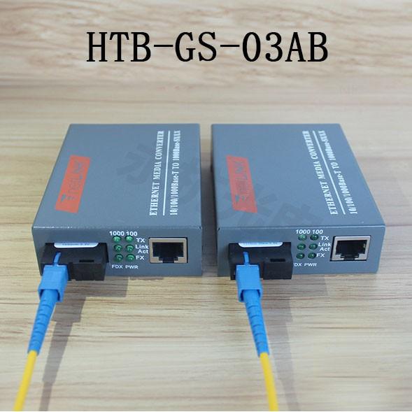 1 Đầu A Thiết Bị Chuyển Đổi Quang Điện HTB-GS-03A 1Gbps 1 Sợi 1 Cổng LAN