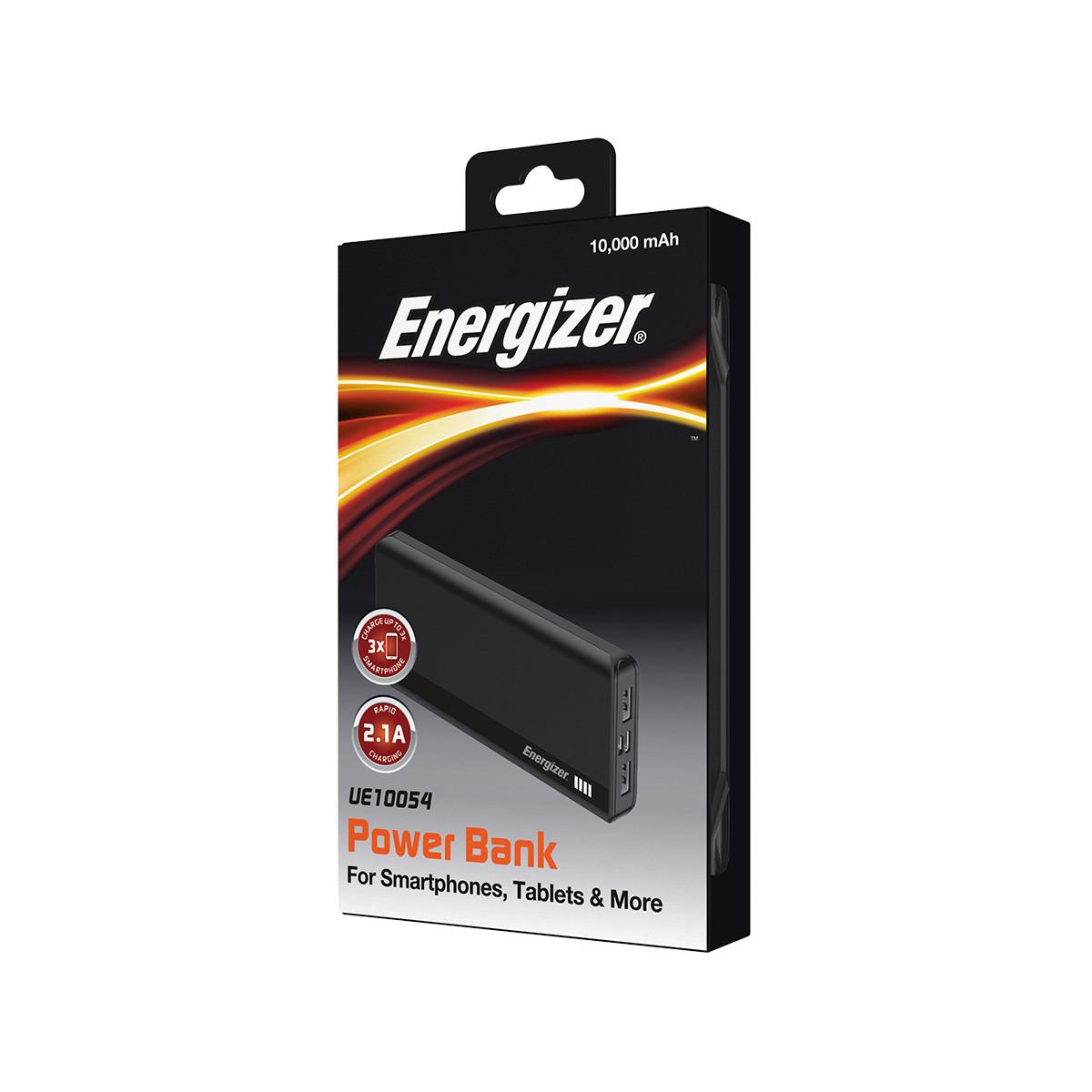 Sạc dự phòng Energizer 10,000mAh /3.7V Li-Polymer - UE10054 - Hàng Chính Hãng
