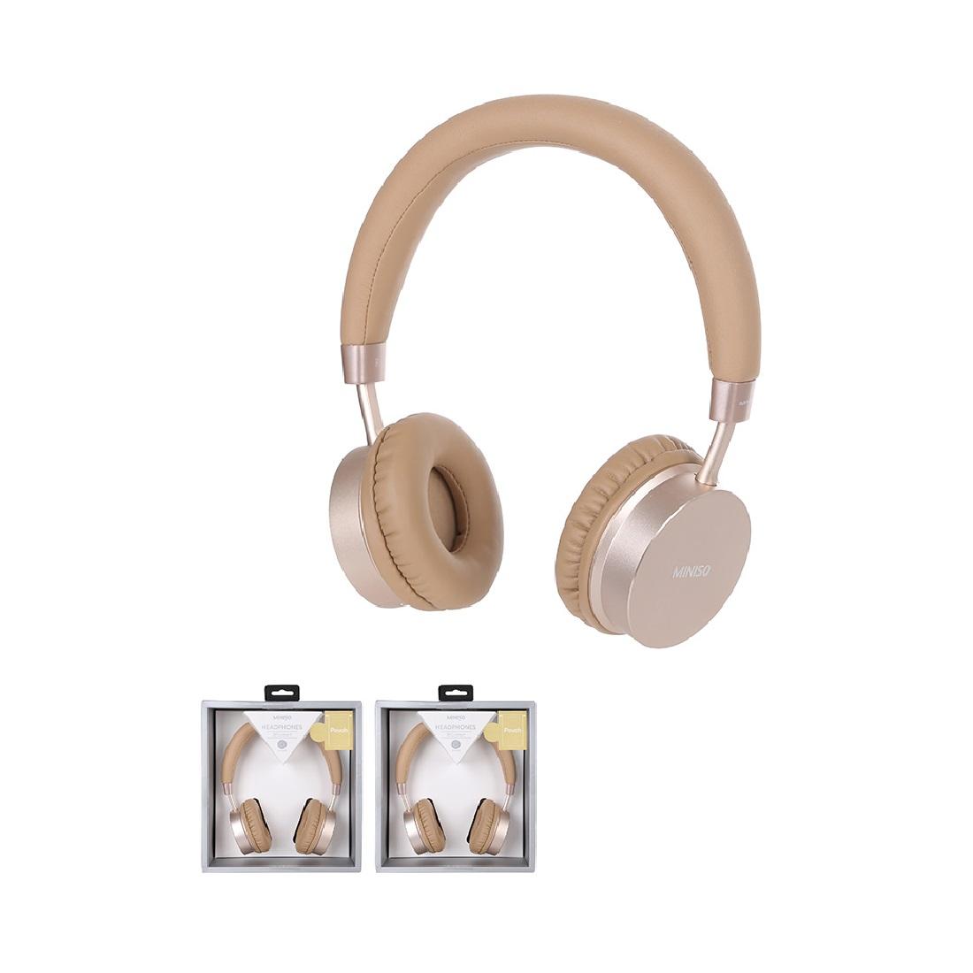 Tai nghe Bluetooth Miniso H-023 (Vàng) - Hàng chính hãng