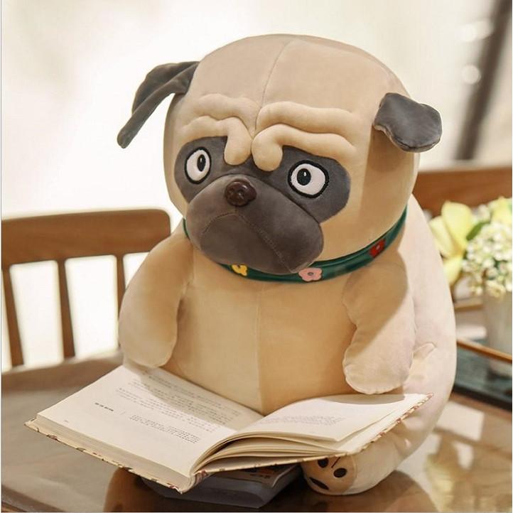 Gấu bông chó Pug xinh xắn - Tặng khẩu trang thời trang vải Su - Gấu Bông Sóc Nhí