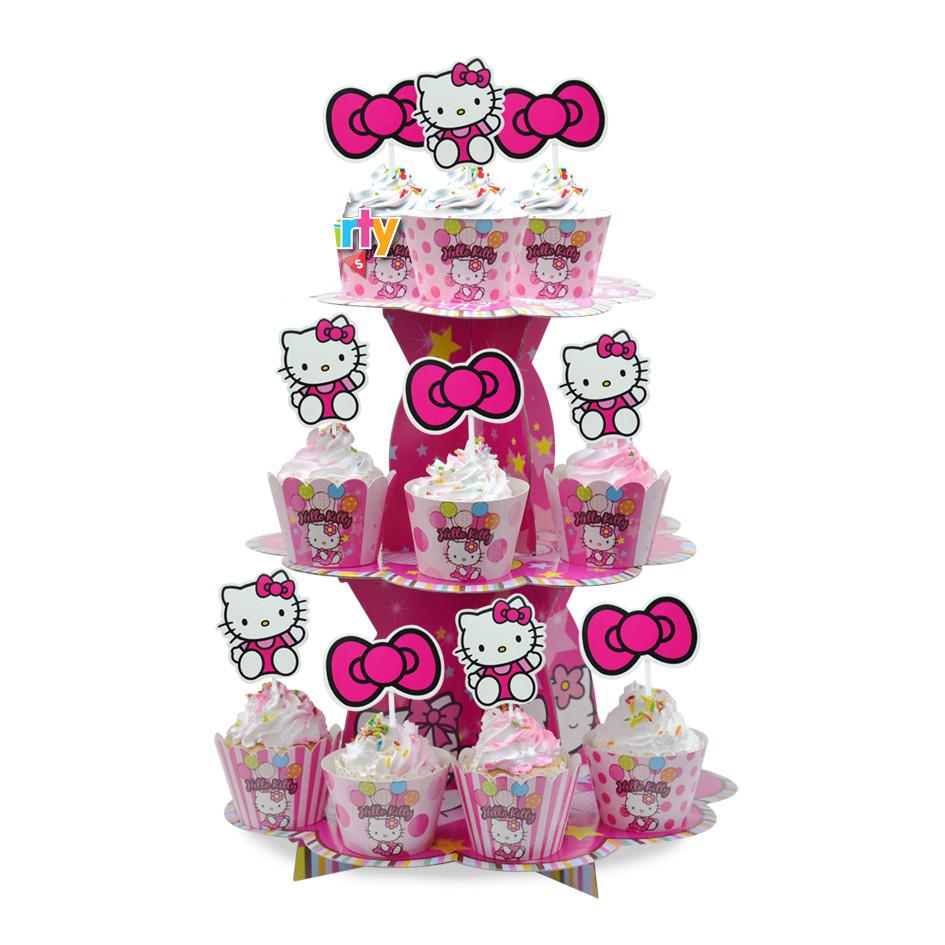 Set Mega trang trí sinh nhật chủ đề Mèo Kitty