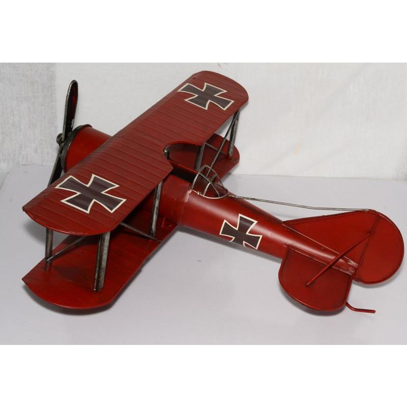 Mô hình máy bay cổ điển kim loại trưng bày/ Vintage Metal Airplane Handmade Decoration (1904E-7967)