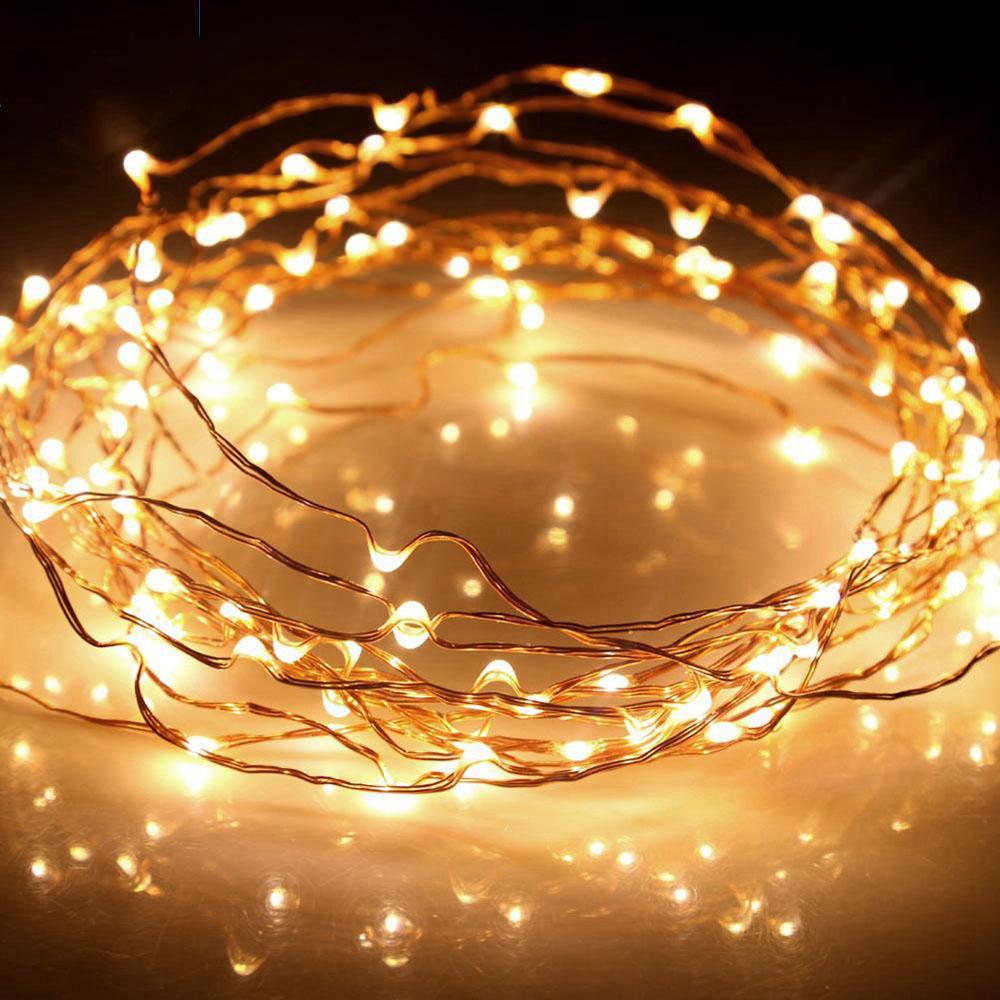 Đèn led đom đóm fairy light dây đồng trang trí decor phòng, cắm trại tạo không gian cổ tích lãng mạn