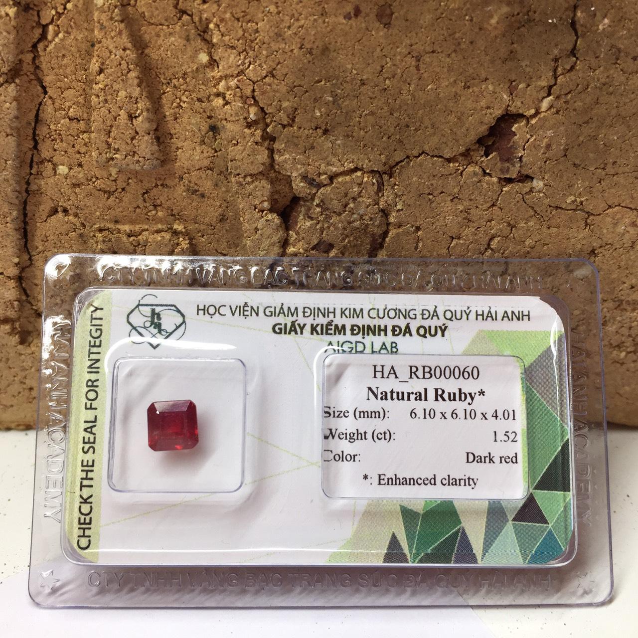 Viên đá Ruby thiên nhiên_HA-RB00060