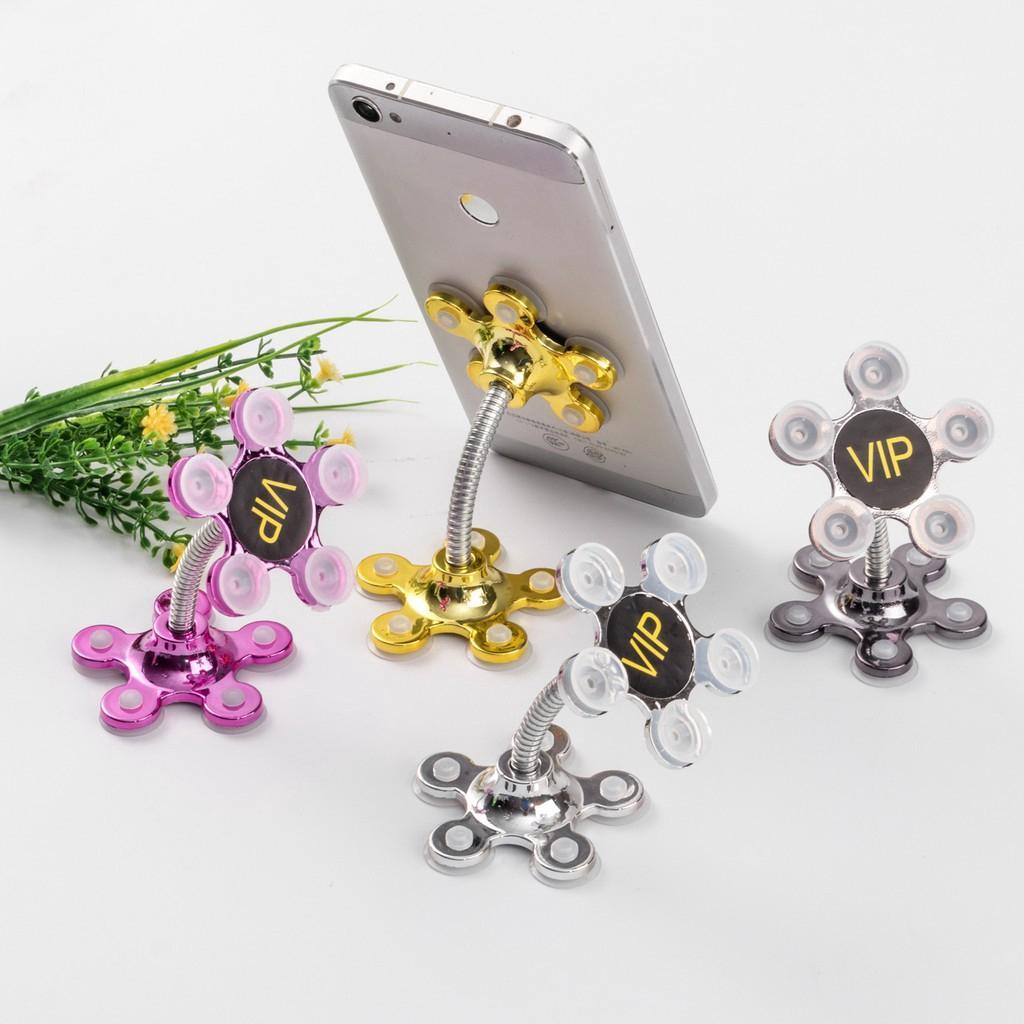 Giá đỡ điện thoại, kẹp điện thoại hình hoa Hút chân không Siêu dính - màu Ngẫu nhiên