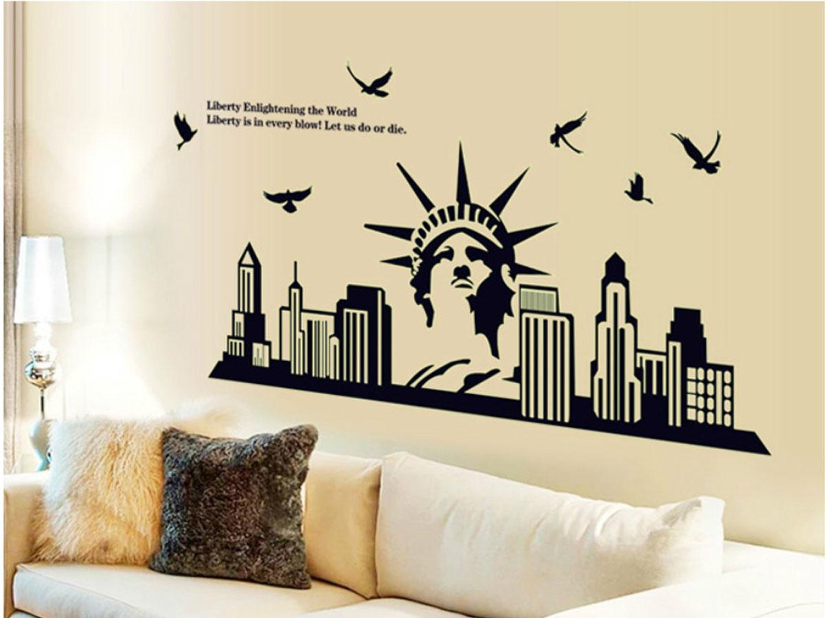 Decal dán tường dạ quang NEWYORK-ABQ9622
