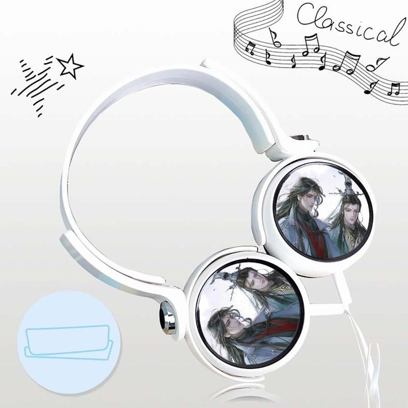 Tai nghe Hệ thống tự cứu anime chibi thiết kế thông minh cá tính cắm dây có mic