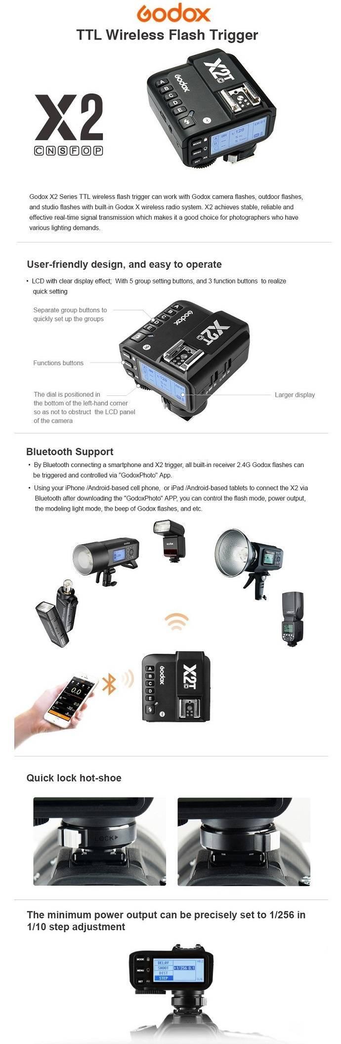 Trigger Godox X2T-S cho Sony tích hợp TTL, HSS 1/8000s. Hàng chính hãng