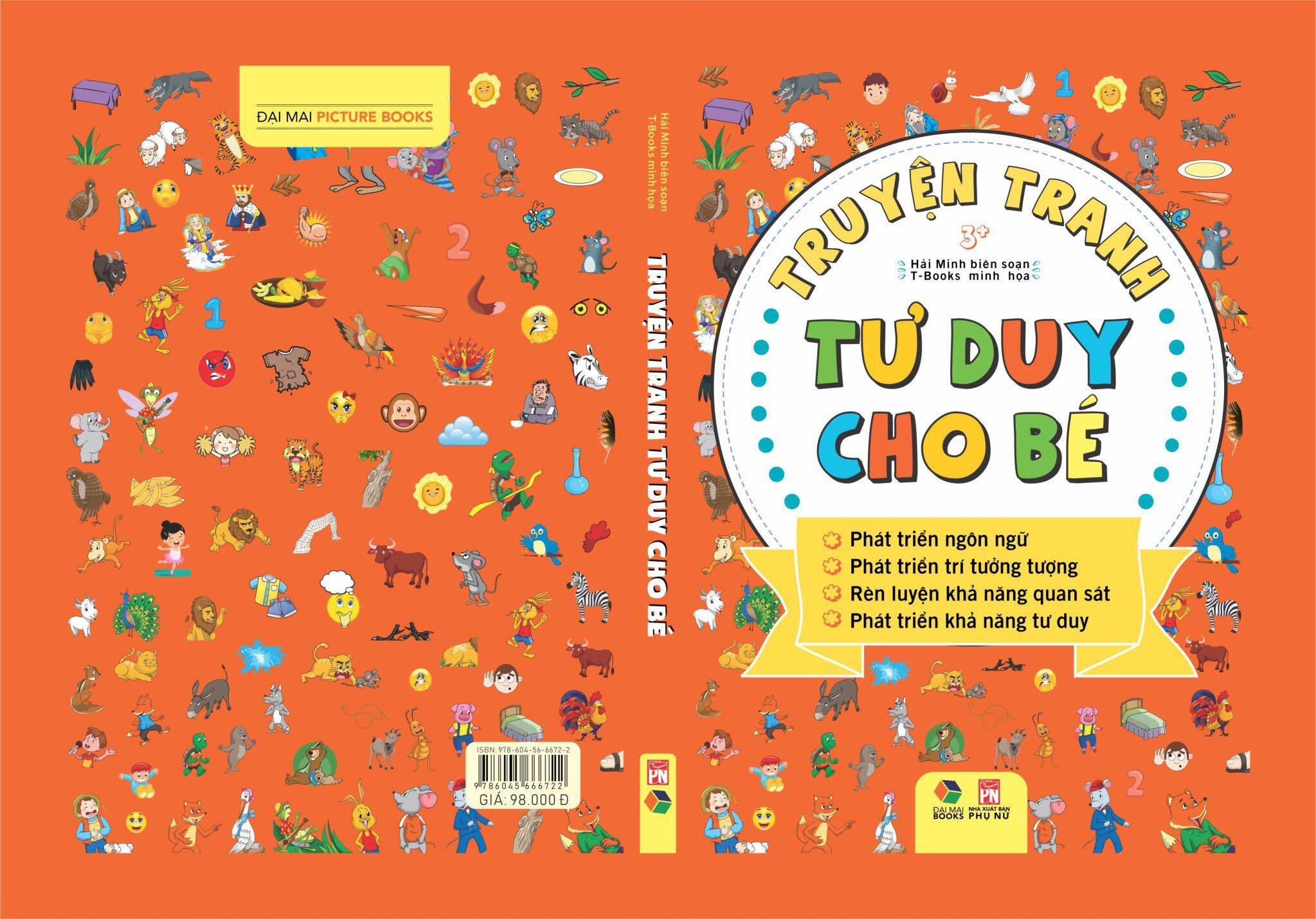 combo Truyện Tranh Tư Duy Cho Bé + Đồng dao thơ - truyện cho bé tập nói