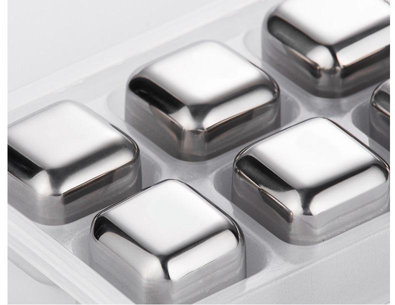 Đá lạnh không tan 8 viên (hình bầu) inox 304-16x11x3.5cm