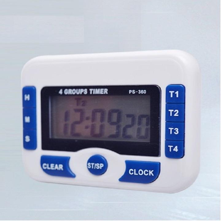 Đồng hồ đếm ngược Version 2 (độ chính xác cao, lưu 4 dòng thời gian) - Tặng kèm quạt cắm cổng USB mini (vỏ nhựa, giao màu ngẫu nhiên)
