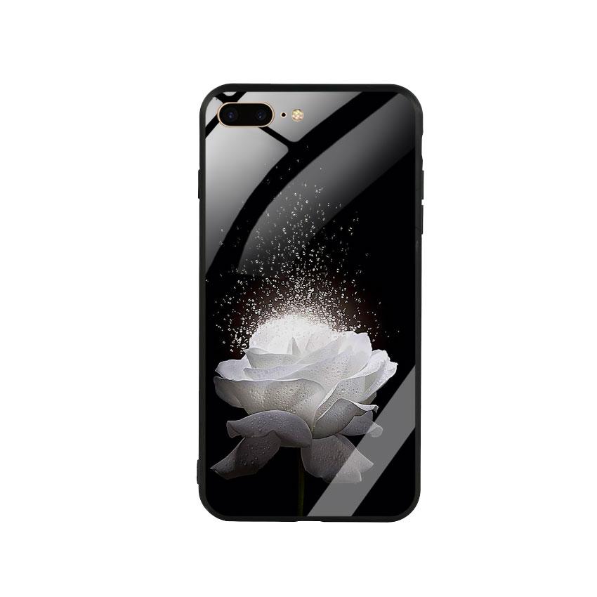 Ốp Lưng Kính Cường Lực cho điện thoại Iphone 7 Plus  8 Plus -  0324 ROSE03