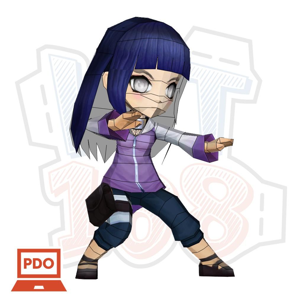 Mô hình giấy Anime Game Chibi Hinata - Naruto