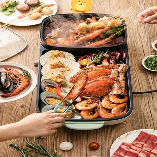 Bếp lẩu Nướng Gia Đình 2 ngăn tiện dụng - NHN995
