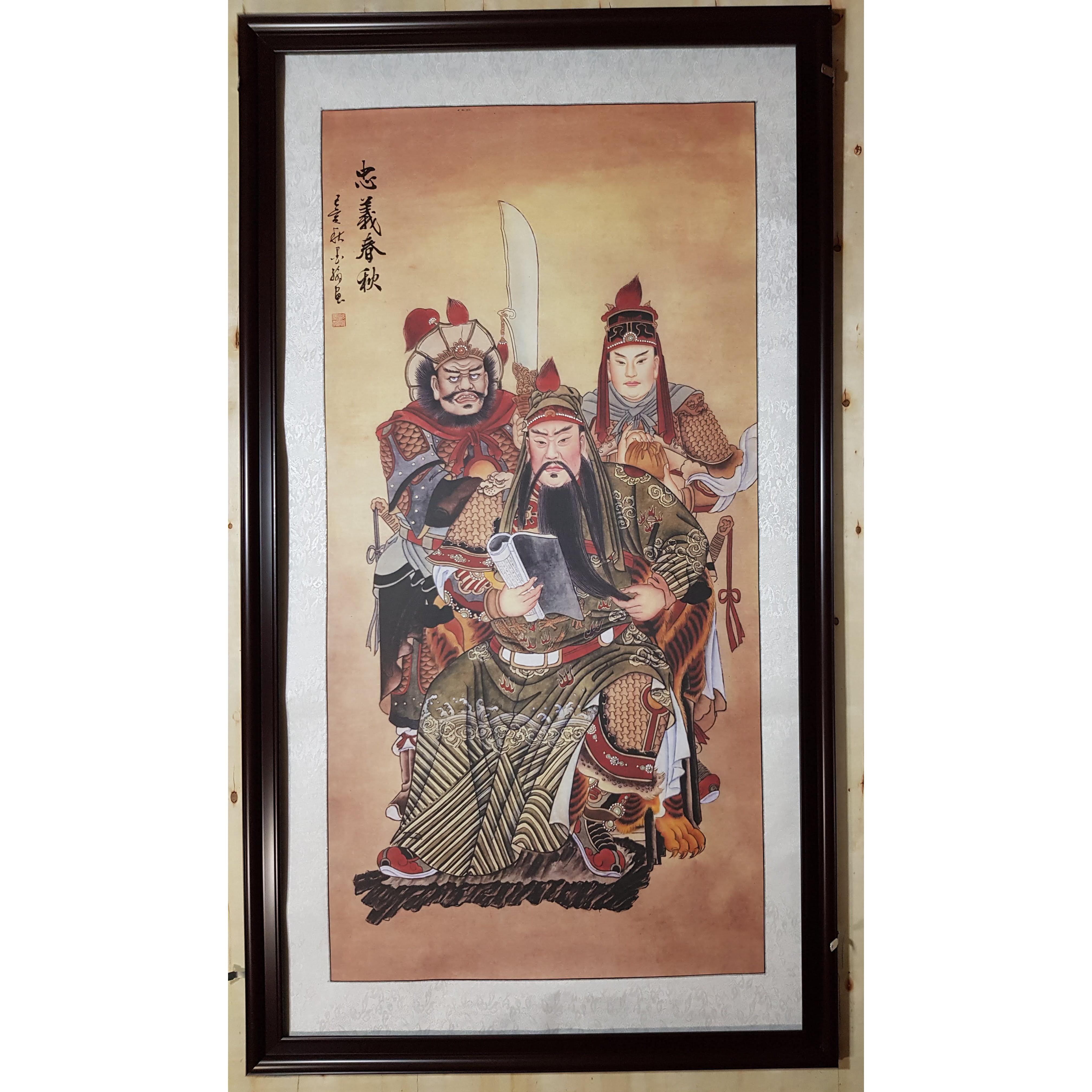 Tranh thủy mặc, Quan Vũ -Lưu Bị-Trương Phi-TM74